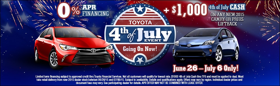 c2c75d0eacbf Toyota 4th of July Sales Event | Toyota of Muskegon