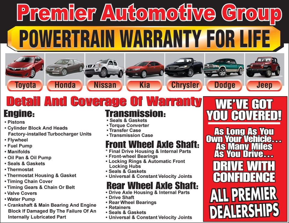 Powertrain Warranty For Life