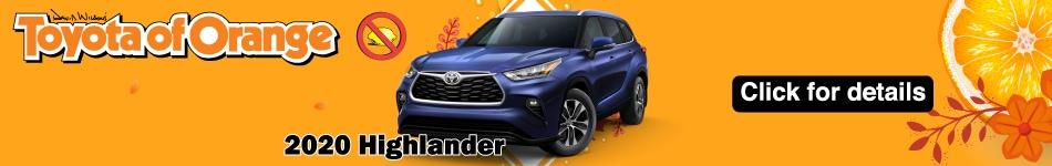 2020 Toyota Highlander lease specials October