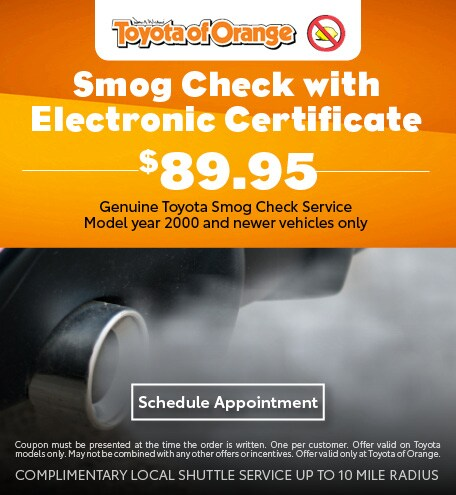 Smog Check with Electronic Certificate