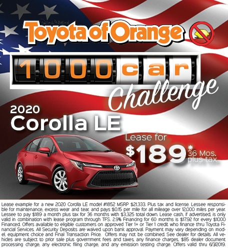 Toyota Of Orange >> New Car Specials Used Car Dealer Serving Tustin Ca Toyota Of Orange