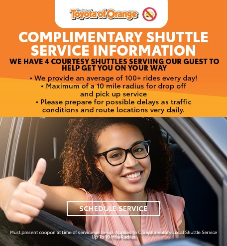 Complimentary Shuttle Service Information