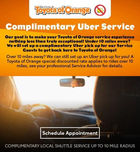 Toyota Of Orange >> Service Specials Toyota Of Orange