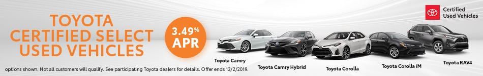 Toyota Certified Used Vehicle