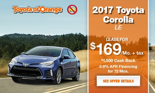 Toyota Of Orange >> 2017 Corolla Le Toyota Of Orange