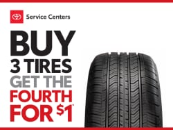 Buy 3 Tires, Get the Fourth for $1