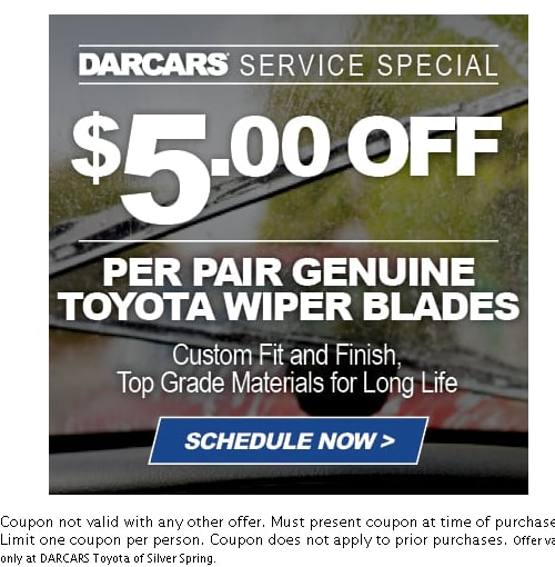 Toyota Service Coupons Silver Spring Darcars Toyota Of Silver Spring