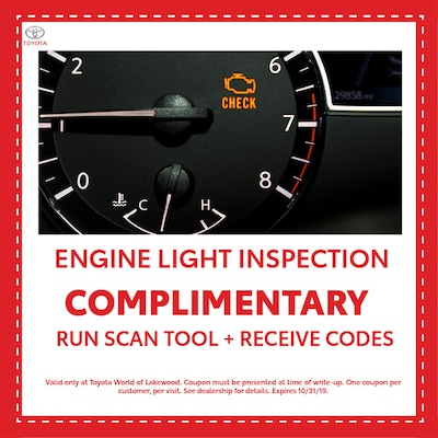 Complimentary Engine Light Inspection