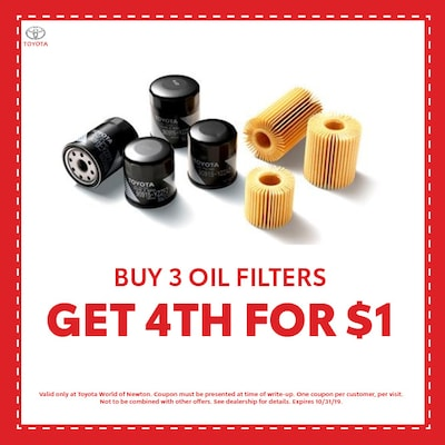 Buy 3 Oil Filters, Get 4th for $1
