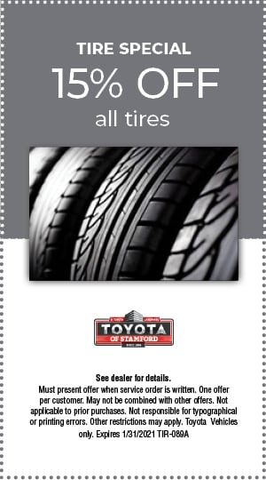 TIRE SPECIAL 15% TIRES