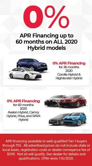 0% APR FINANCING HYBRID MODELS