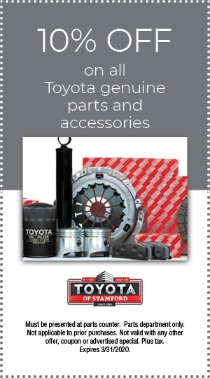 10% OFF ON ALL TOYOTA GENUINE PARTS AND ACCESSORIES