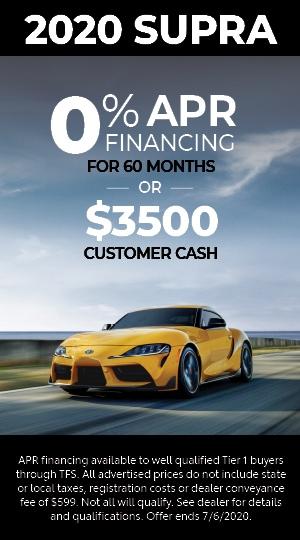 0% SUPRA + $3500 CUSTOMER CASH