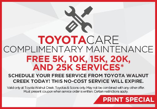 Service Special Offers Toyota Walnut Creek