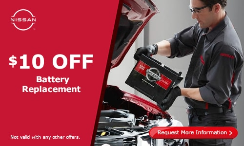$10 off battery replacement