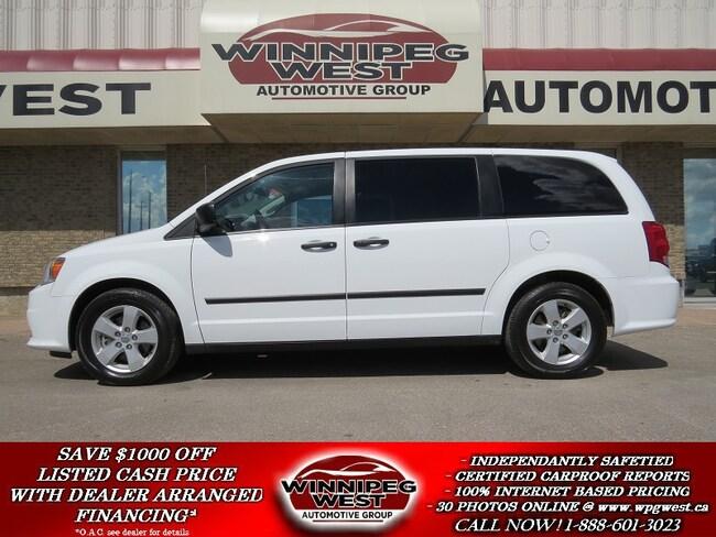 2014 Dodge Grand Caravan SE PLUS PKG, STOW-N-GO, REAR AIR/HEAT, ALLOYS, LOC Minivan