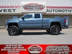 2014 GMC Sierra 1500 HTD LEATHER, BIG LIFT, EXHAUST, LOW K'S & SHARP! Truck Double Cab