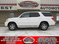 2007 Toyota Sequoia LIMITED V8 4X4, LEATHER, SUNROOF, 7 PASS, LOW MILE SUV