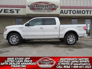 2012 Ford F-150 PLATINUM EDITION 4X4, ROOF, LEATHER, MINT!!