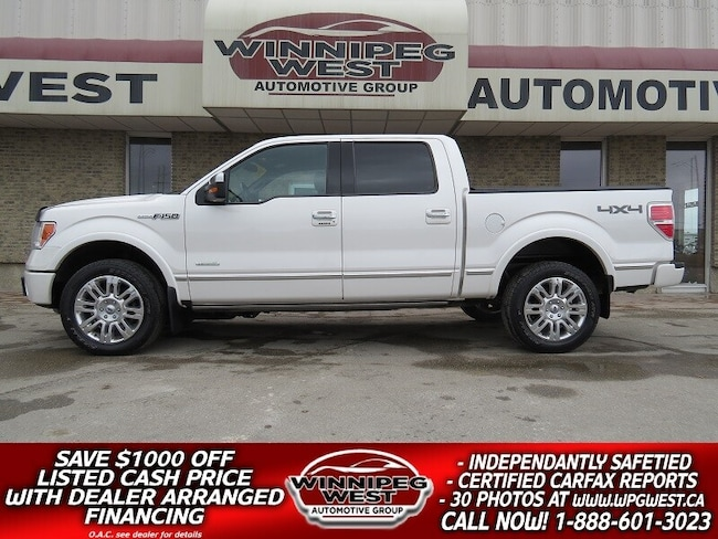 2012 Ford F-150 PLATINUM EDITION 4X4, ROOF, LEATHER, MINT!! Truck Crew Cab