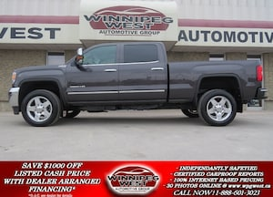 2015 GMC Sierra 2500HD SLT DURAMAX DIESEL 4X4, LEATHER, ROOF ,NAV, LOCAL!