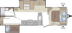 2011 KEYSTONE RV Cougar 30BHSWE BUNK HOUSE, DOUBLE SLIDES EXTRA LIGHT 1/2 TON SERIES , GREAT LAYOUT!!