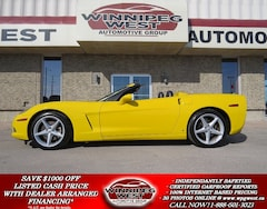 2007 Chevrolet Corvette VELOCITY YELLOW - SHARP, SHARP, SHARP!! Convertible