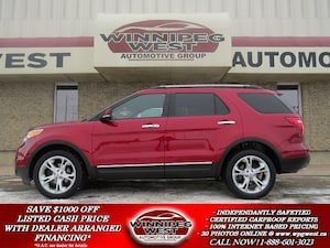 2013 Ford Explorer LIMITED 7 PASS AWD, PAN ROOF, NAV, LEATH, LOADED!