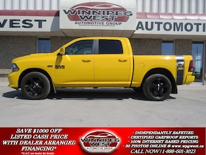 2016 Dodge Ram 1500 STINGER YELLOW SPORT CREW 4X4, RARE AND SHARP! Truck Crew Cab