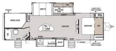 2015 WILDWOOD BY FOREST RIVER HERITAGE GLEN LITE RV 33FT BUNK HOUSE, DOUBLE SLIDE, LOTS OF FEATURES!!