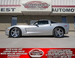 2008 Chevrolet Corvette 3LT TARGA 6-SPEED, HEATED LEATHER, NAVI, 1-OWNER Coupe