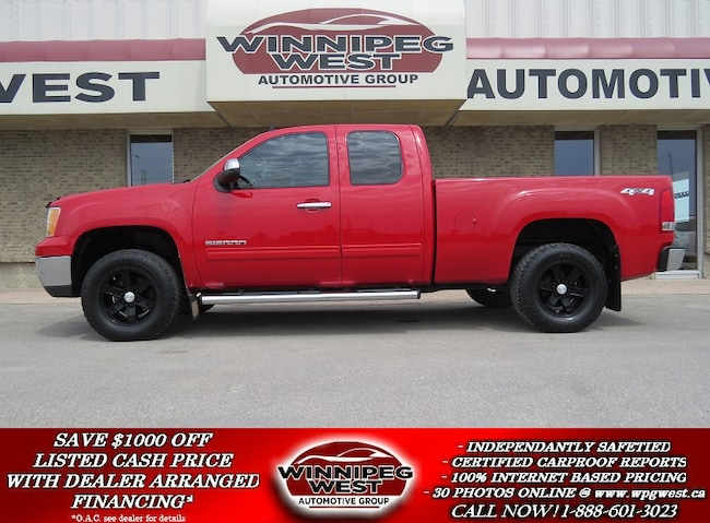 2010 GMC Sierra 1500 SLE SPORT 4X4, FLAWLESS 1 OWNER LOCAL TRADE Truck Extended Cab