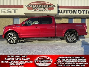 2015 Ford F-150 LARIAT 5.0L V8 4X4, 6.5FT BOX, PAN ROOF, LOADED