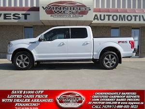2015 Ford F-150 LARIAT FX4 CREW 5.0L 4X4, PAN ROOF, NAV, LOCAL TRK