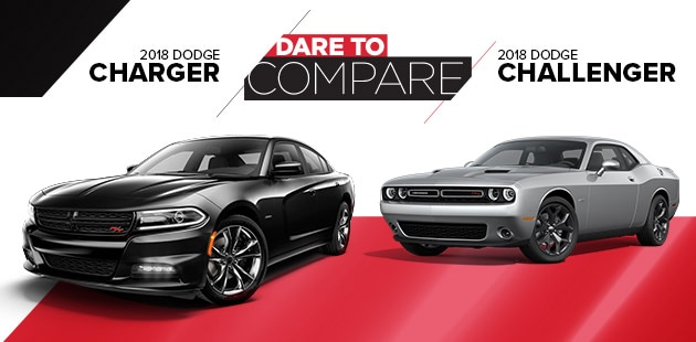 Dare To Compare: 2018 Dodge Charger vs 2018 Dodge Challenger