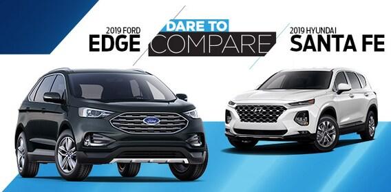 Santa Fe Ford >> 2019 Ford Edge Vs 2019 Hyundai Santa Fe Transwest Ford