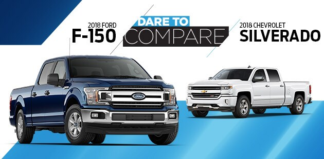 Dare to Compare: 2018 Ford F-150 vs 2018 Chevrolet Silverado