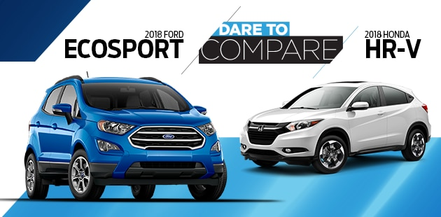Dare to Compare - 2018 Ford EcoSport vs. Honda HR-V at Transwest Ford