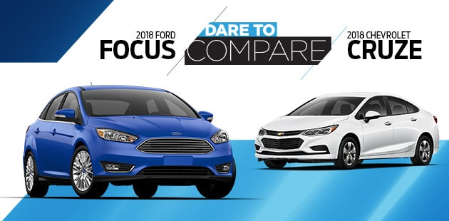 Dare to Compare: 2018 Ford Focus vs 2018 Chevrolet Cruze