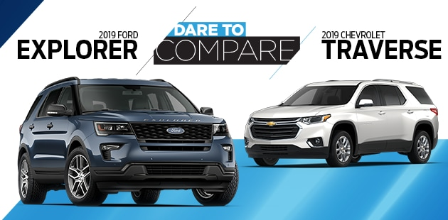 2019 Ford Explorer vs. 2019 Chevrolet Traverse
