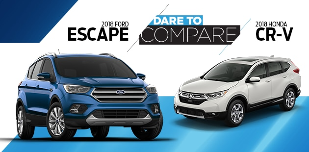 Dare to Compare: 2018 Ford Escape vs 2018 Honda CR-V