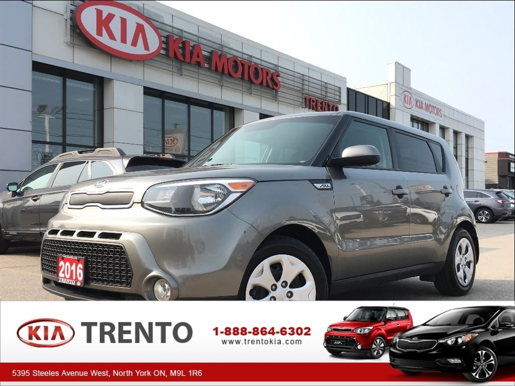 2016 Kia Soul LX|KEYLESS|BLUETOOTH|A/C| Hatchback Gas 6-Speed Automatic w/Active ECO -inc: Remote Keyles FWD Silver
