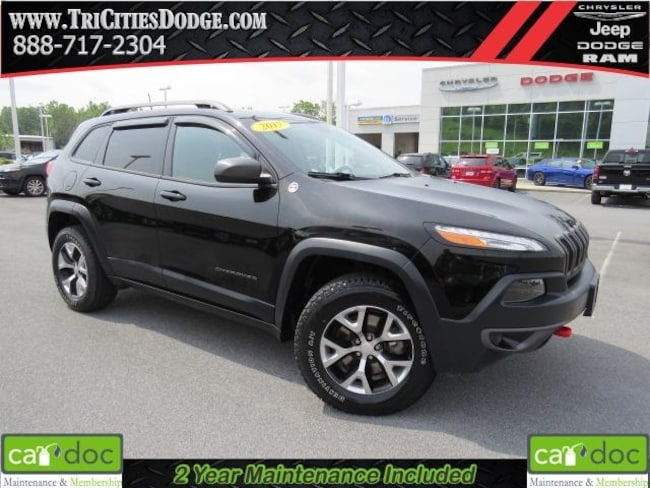 Certified Pre-Owned 2017 Jeep Cherokee Trailhawk SUV 1C4PJMBBXHW654174 for sale near Johnson City