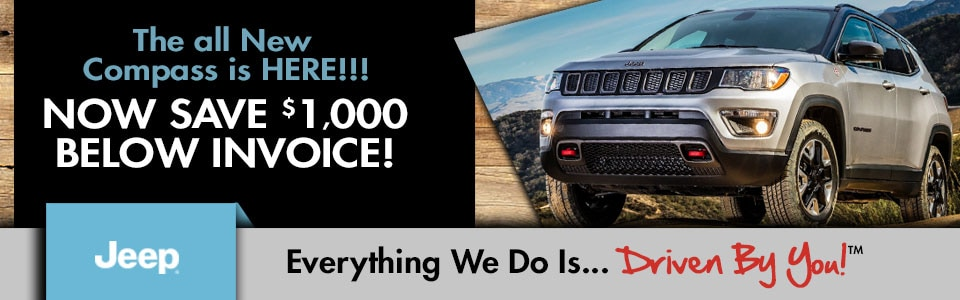 All New Jeep Compass Special at Tri-City Dodge