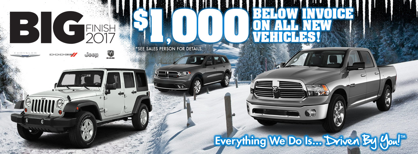 $1,000 Below Invoice on All New In-Stock Vehicles