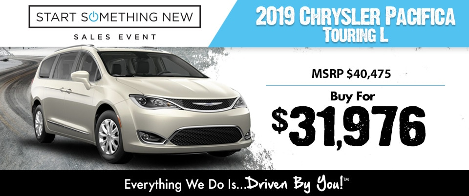 2019 Chrysler Pacifica Lease Special at Tri-City