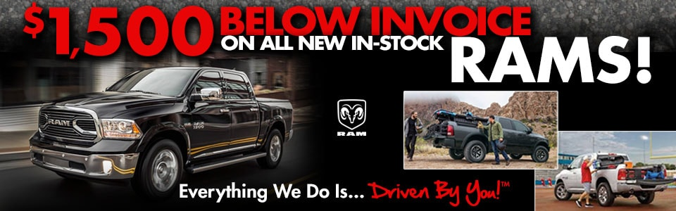 $1,500 Below Invoice on All New In-Stock Rams!