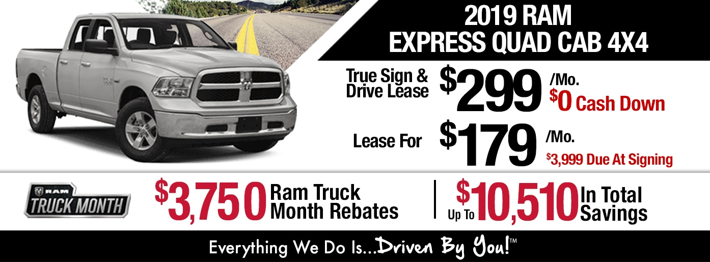 2019 Ram 1500 Quad Cab Express 4x4 Lease Special at Tri-City!