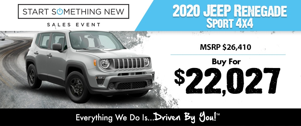 2018 Jeep Renegade 4x4 Lease Special at Tri-City
