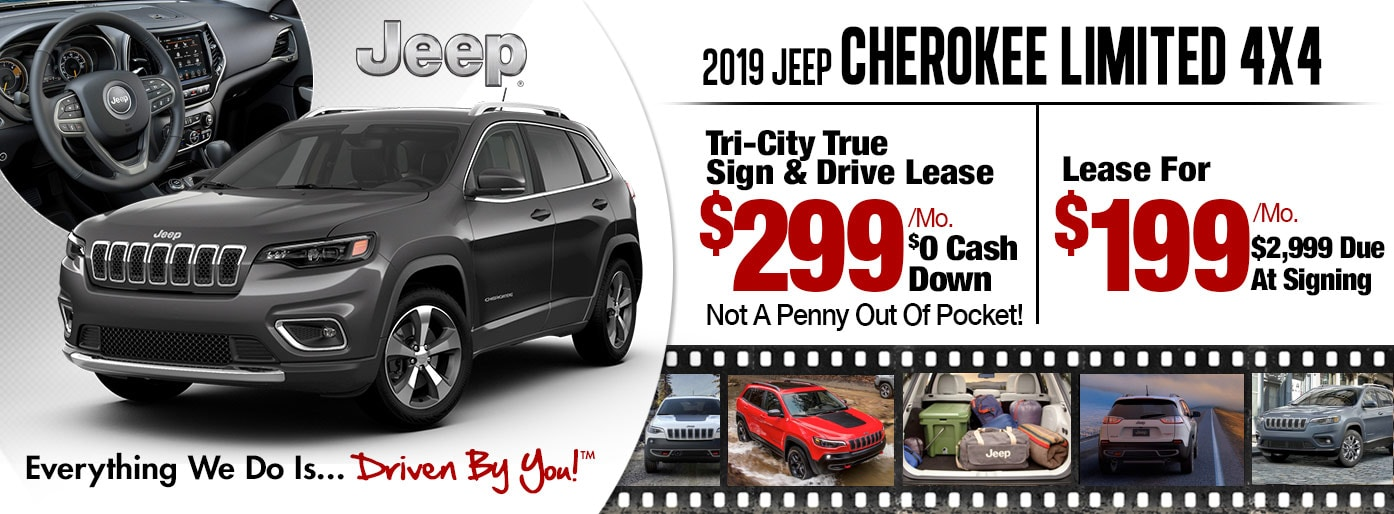 2019 Jeep Cherokee Limited 4x4 Lease Special at Tri-City